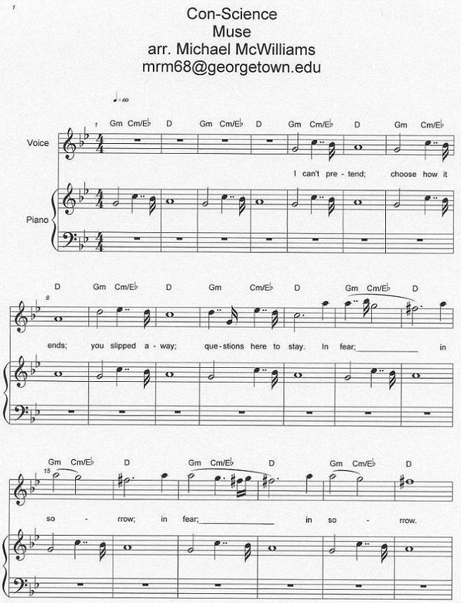 Piano piano tab sheet music : Con-Science (piano sheetpaper) – MuseWiki: Supermassive wiki for ...