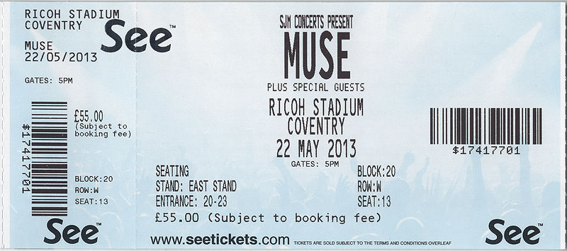 File:Coventry Ricoh Arena 2013 - seated ticket.jpg