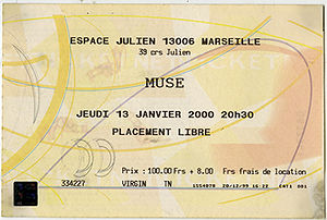 Marseille Espace Julien 2000 (gig) – MuseWiki: Supermassive wiki for