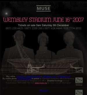 London Wembley Stadium 2007 - 16th (gig) – MuseWiki